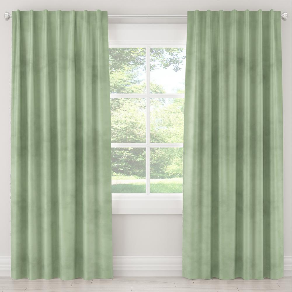 Skyline Furniture 50 in. W x 120 in. L Blackout Curtain in Lulu Sage