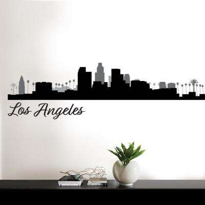 Los Angeles Black Cityscape Wall Art Kit