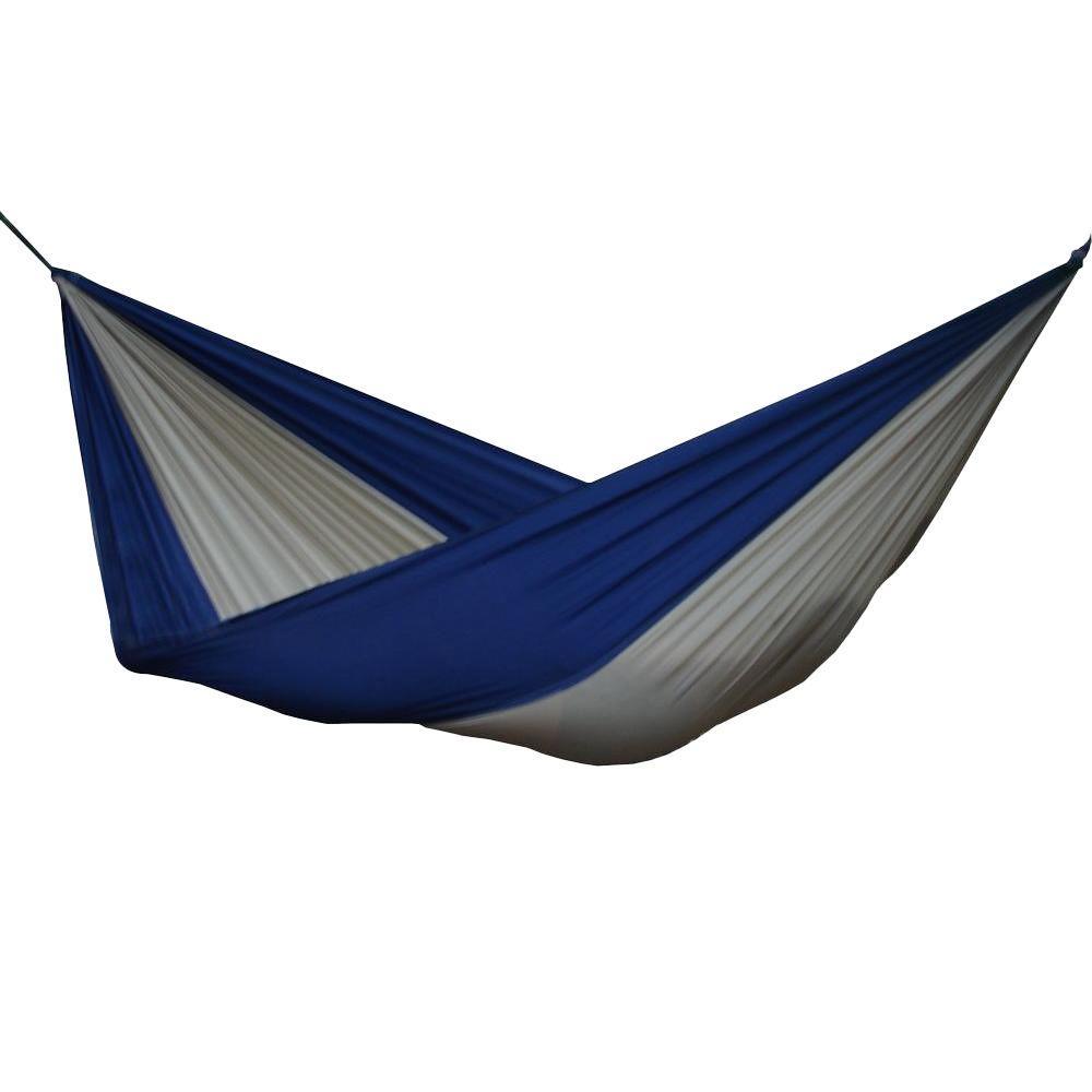 vivere 10 ft  parachute double hammock in beige navy vivere 10 ft  parachute double hammock in beige navy par24   the      rh   homedepot
