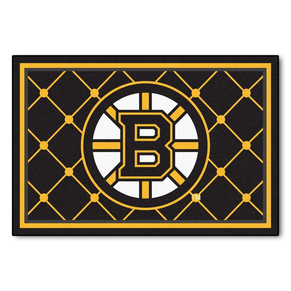 Fanmats Boston Bruins 5 Ft X 8 Ft Area Rug 10501 The