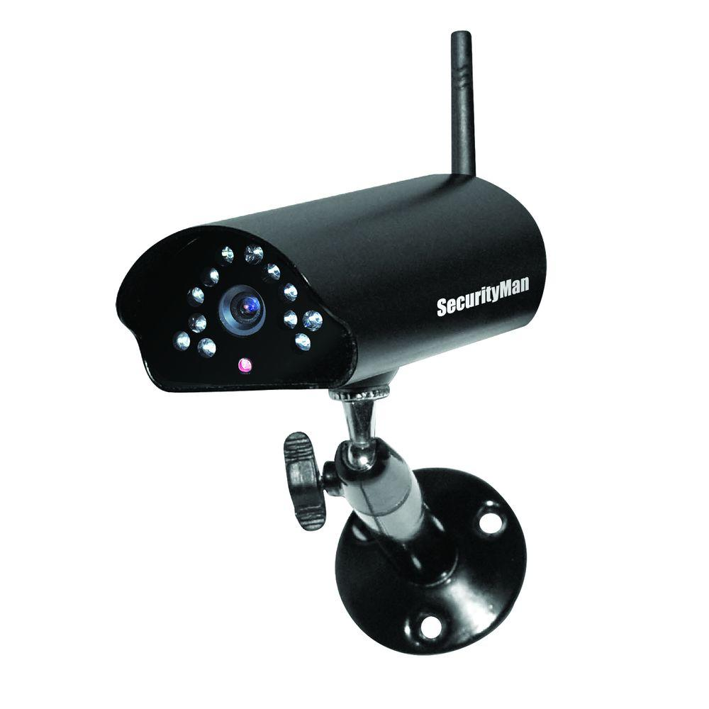 SecurityMan Digital Wireless Indoor/Outdoor Camera with Night Vision ...
