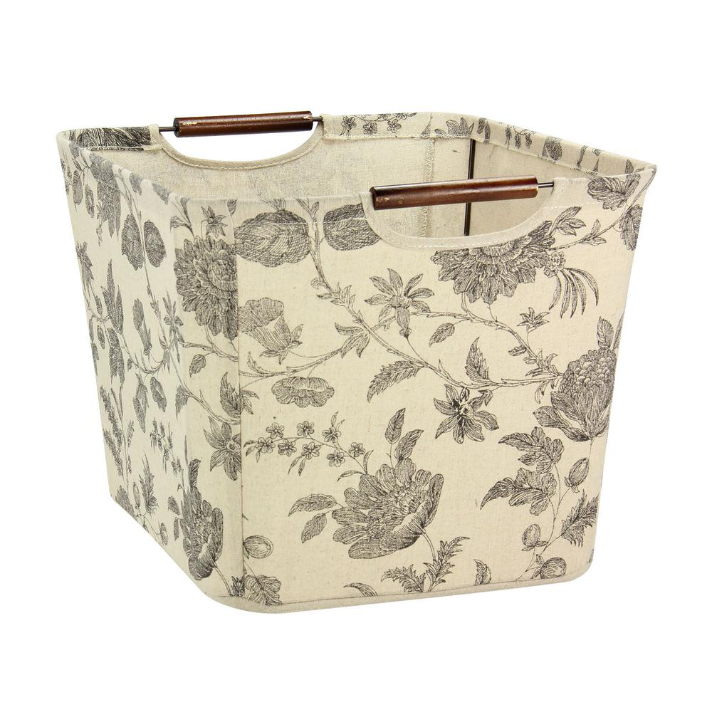 11 in. x 16 in. Medium Tapered Canvas Storage Bin with