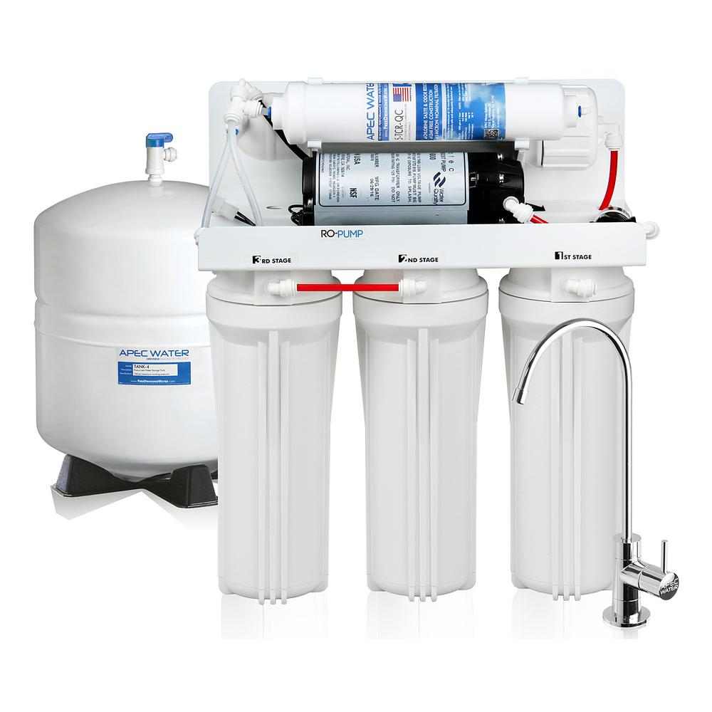 Ultimate Electric Pumped 45 GPD 5-Stage Reverse Osmosis Drinking Water Filter