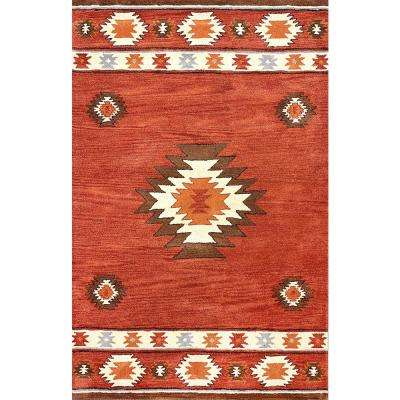 Shyla Wine 9 ft. 6 in. x 13 ft. 6 in. Area Rug