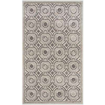 Amherst Light Gray/Ivory 3 ft. x 5 ft. Indoor/Outdoor Area Rug