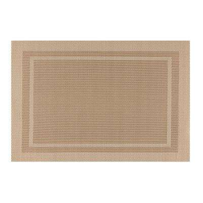 EveryTable Double Border Taupe Placemat (Set of 12)