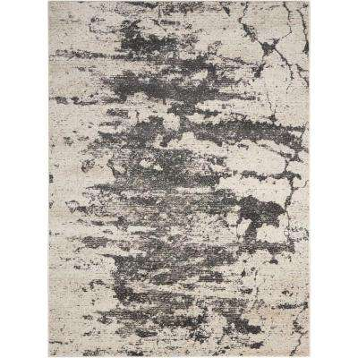 Maxell Ivory/Grey 5 ft. 3 in. x 7 ft. 3 in. Area Rug