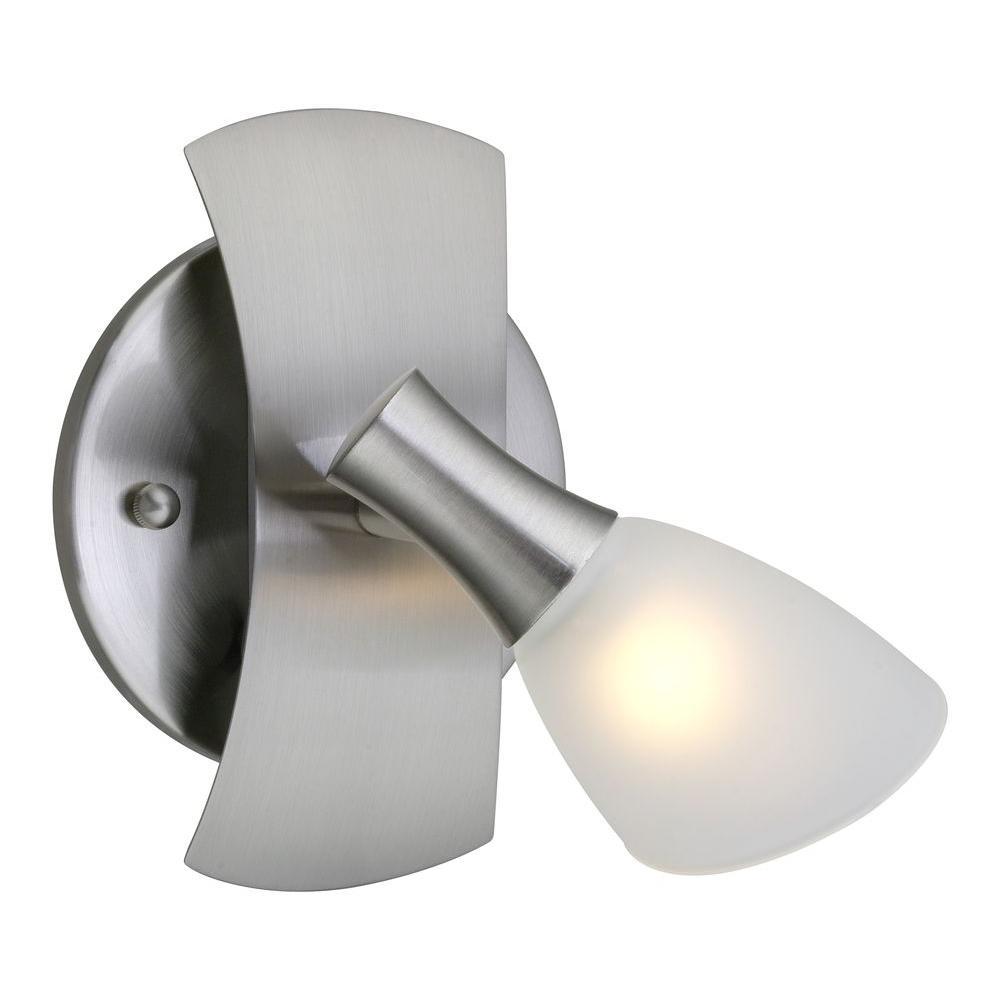Ona 1-Light Matte Nickel Track Lighting Fixture