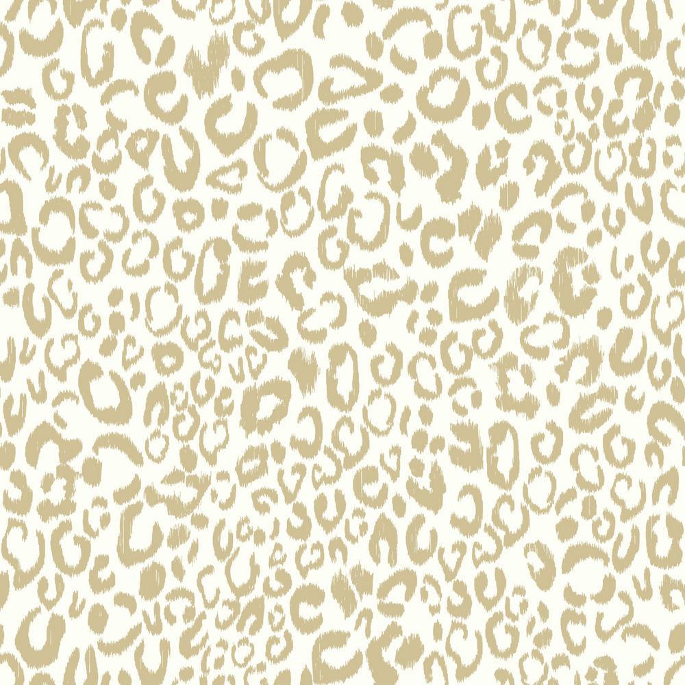 Leopard Vinyl Peelable Wallpaper (Covers 28.18 sq. ft.)