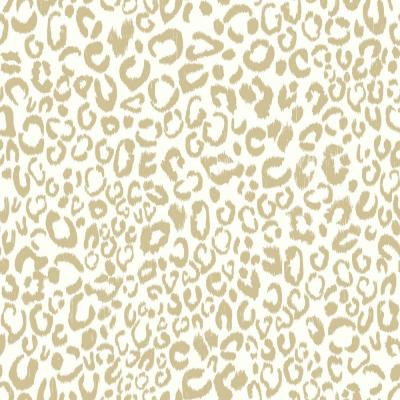 Leopard Vinyl Peelable Wallpaper (Covers 28.18 sq. ft.)