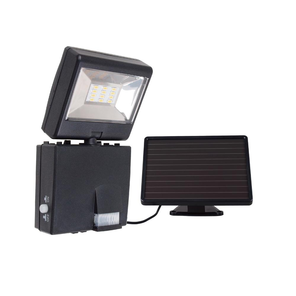Super Bright Black 400 Lumen Motion Activated Outdoor Integrated LED 6500K