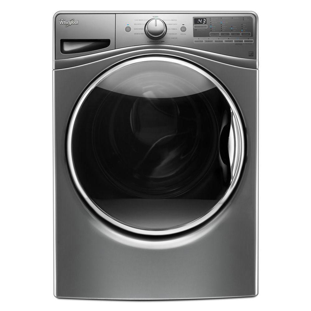 Whirlpool 4.5 cu. ft. High-Efficiency Stackable Chrome Sh...