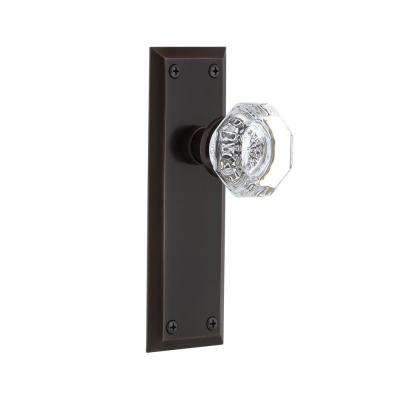 New York Plate 2-3/8 in. Backset Timeless Bronze Passage Hall/Closet Waldorf Door Knob
