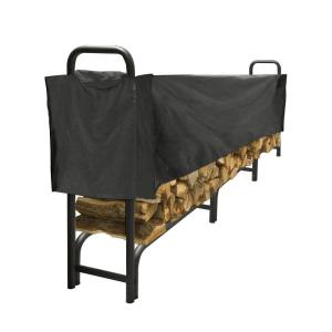 Pleasant Hearth 12 ft. Heavy Duty Firewood Rack with Half Cover by Pleasant Hearth