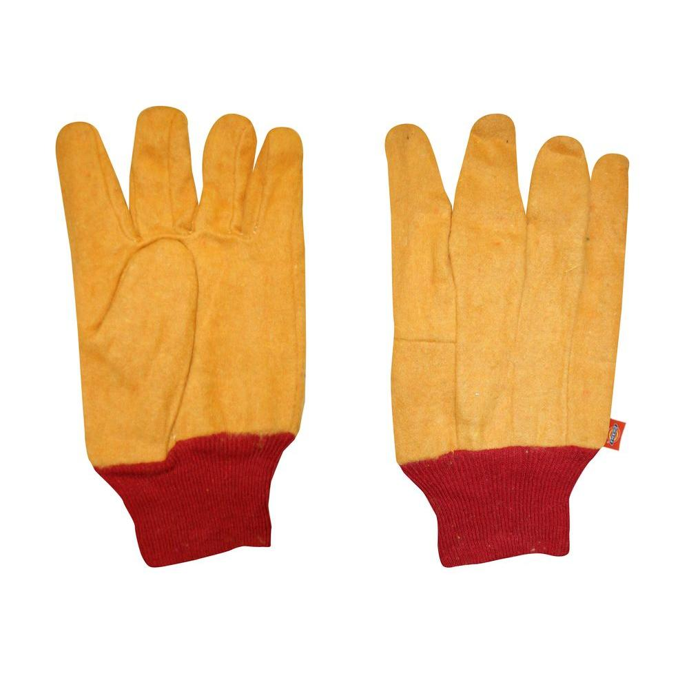 Dickies 2-Ply Rubberized Yellow Chore Glove