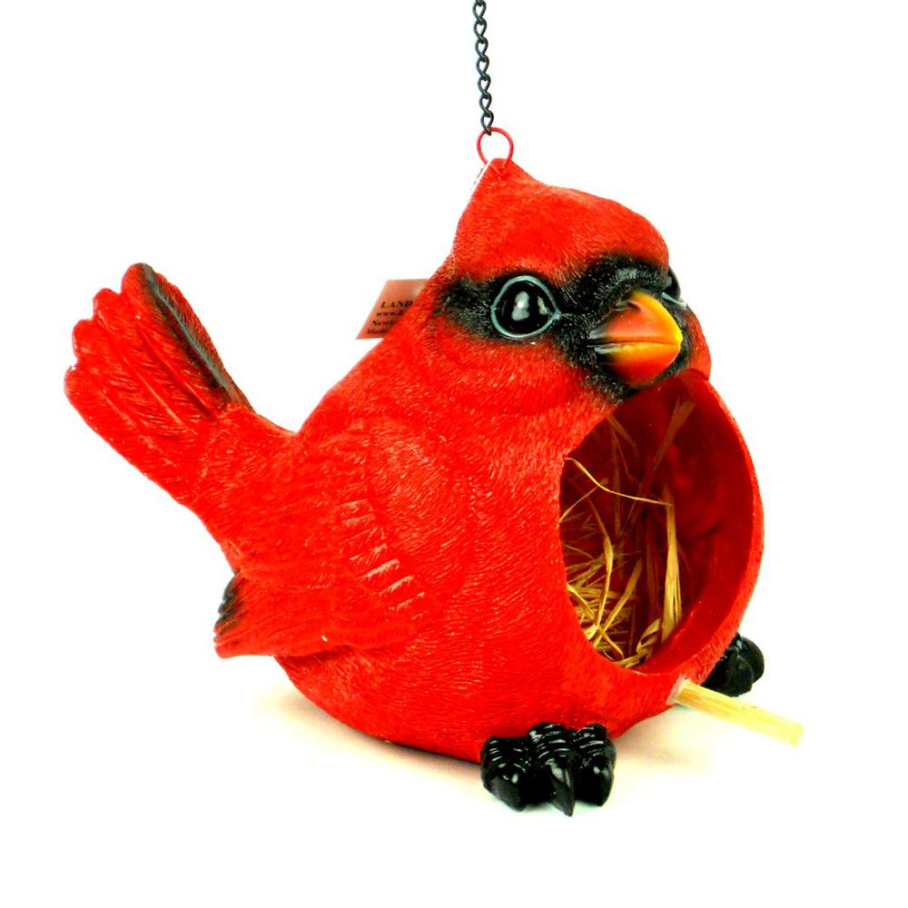 Red Cardinal Birdhouse Ls817cb1 The Home Depot