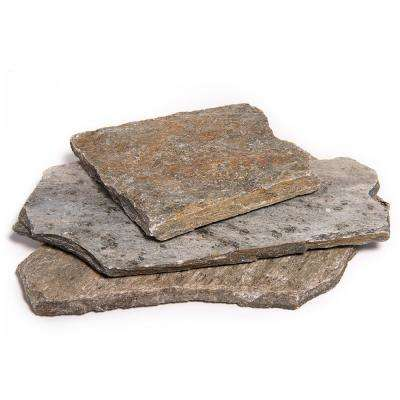 18 in. x 12 in. x 1.97 in. 60 sq. ft. Storm Mountain Natural Flagstone for Landscape, Gardens and Pathways