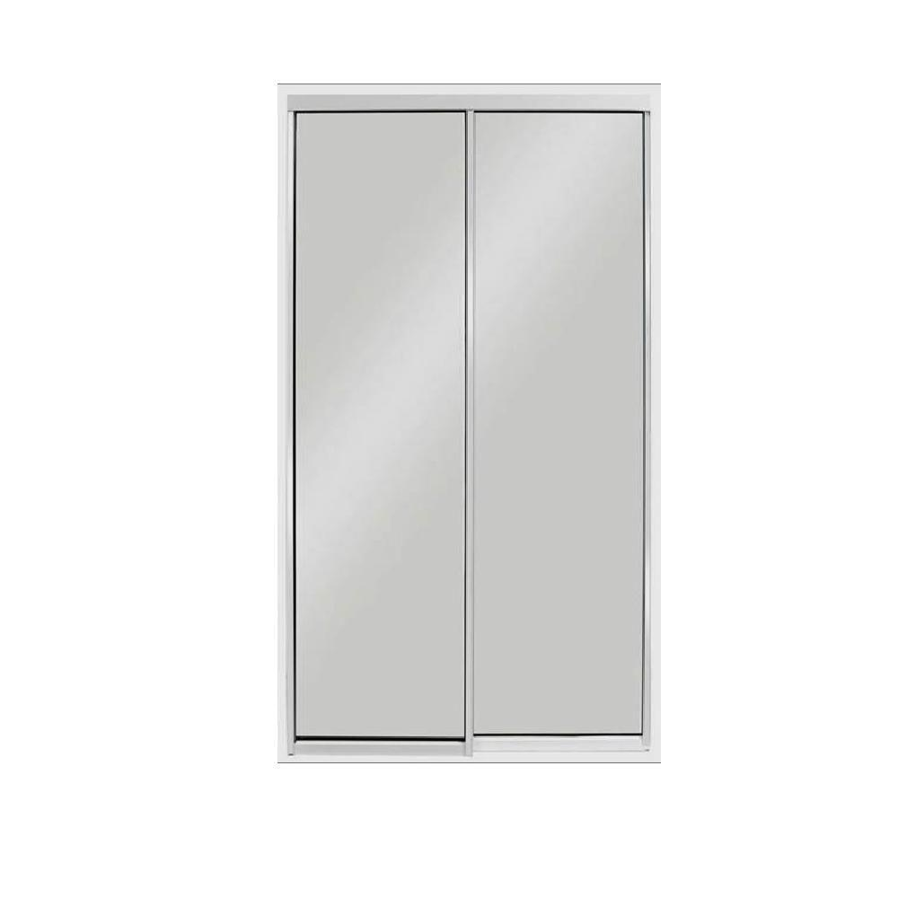 Air Master Windows and Doors 72 in. x 80 in. Aluminum White Mirror on