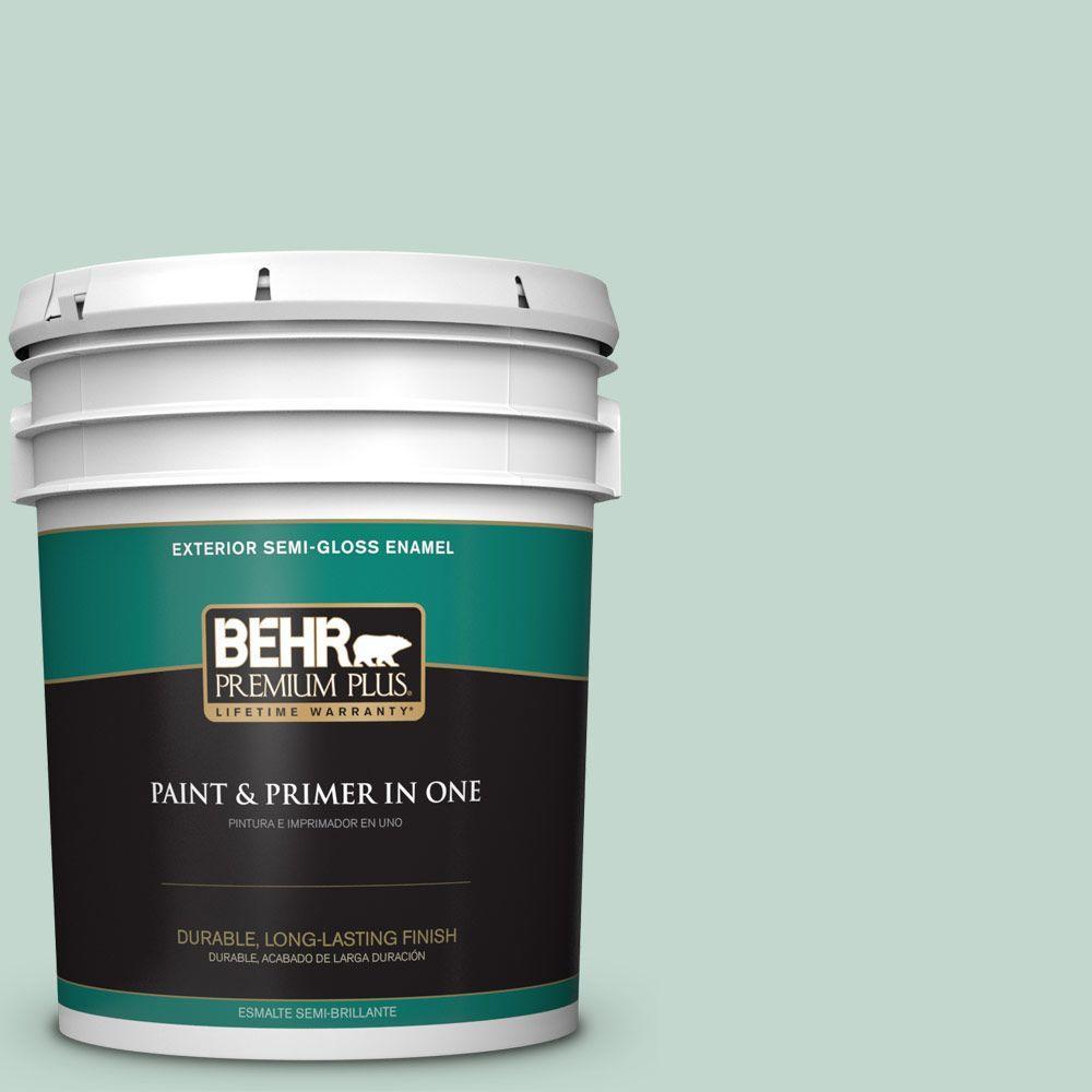 5-gal. #470E-3 Aqua Smoke Semi-Gloss Enamel Exterior Paint
