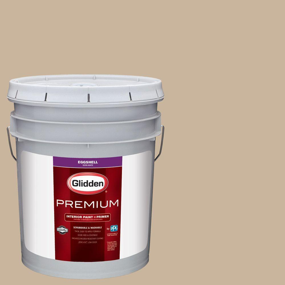 Glidden Premium 5 Gal Hdgwn33u Traditional Tan Eggshell Interior Paint With Primer