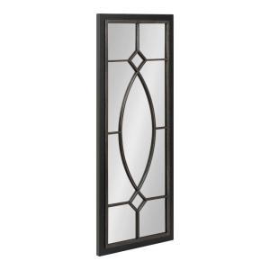 Bakersfield 42 in. x 16 in. Classic Rectangle Framed Black Wall Accent Mirror