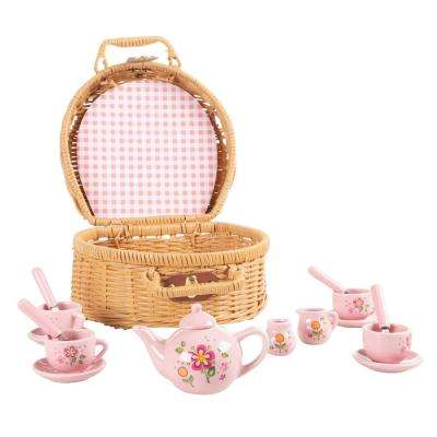 Porcelain Tea Party Set for Kids (17-Piece)