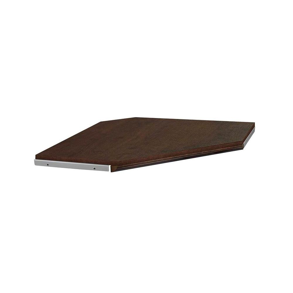 ClosetMaid Impressions 28 in. Chocolate Corner Shelf Kit with Trim