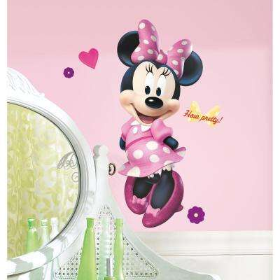 18 in. x 40 in. Mickey and Friends - Minnie Bow-tique 17 -Piece Peel and Stick Giant Wall Decal