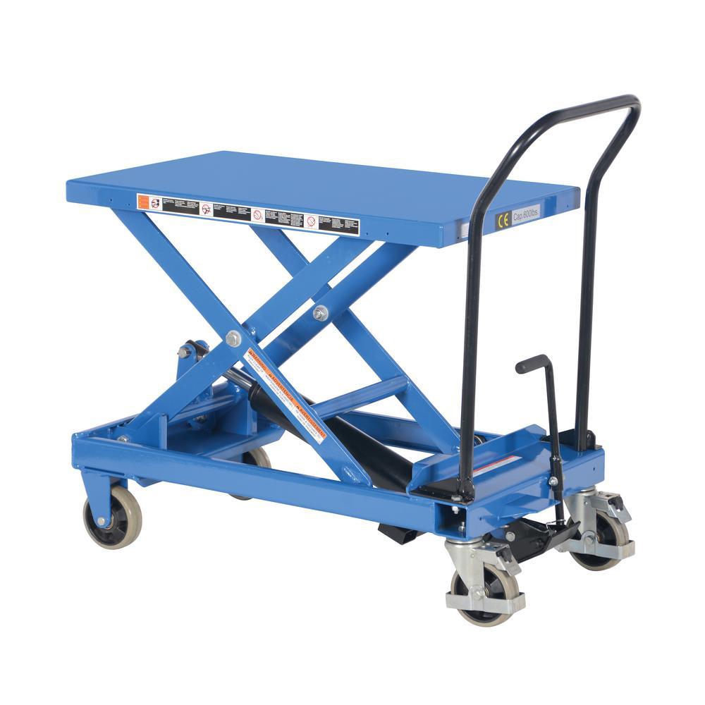 600 lb. 19 in. x 33 in. Heavy Duty Premium Scissor Cart
