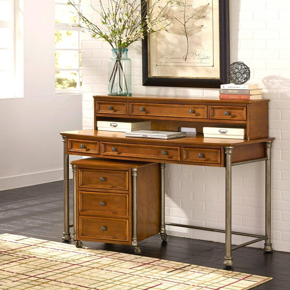 The Orleans 2-Piece Vintage Caramel Office Suite