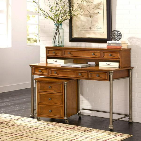 Home Styles The Orleans 2-Piece Vintage Caramel Office Suite