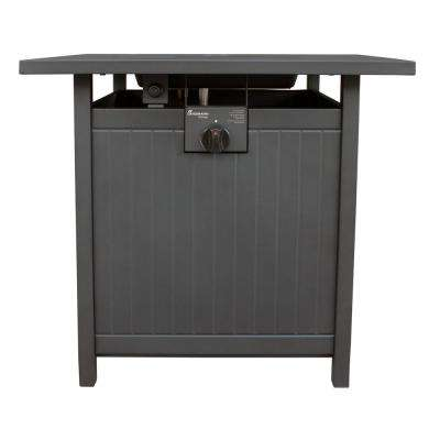 Welsey 26 in. x 25 in. x 26 in. Square Steel Propane Fire Pit Table