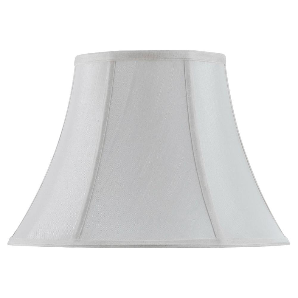 White Vertical Piped Basic Bell Lamp Shade