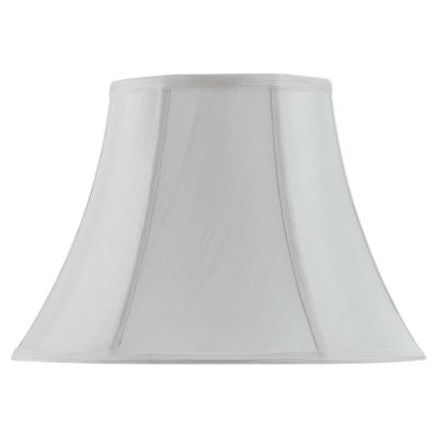 18 in. White Vertical Piped Basic Bell Lamp Shade