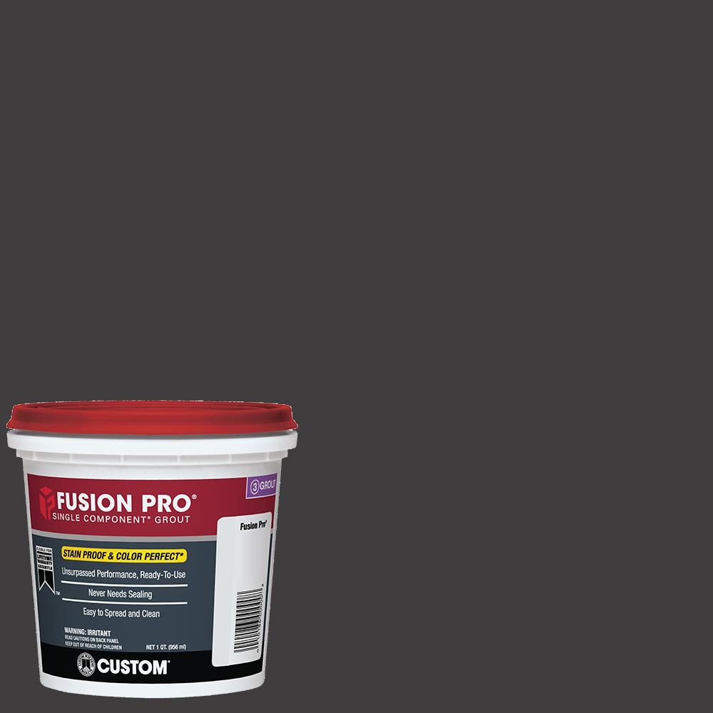 custom building products fusion pro 60 charcoal 1 qt single component grout fp60qt 4 the. Black Bedroom Furniture Sets. Home Design Ideas