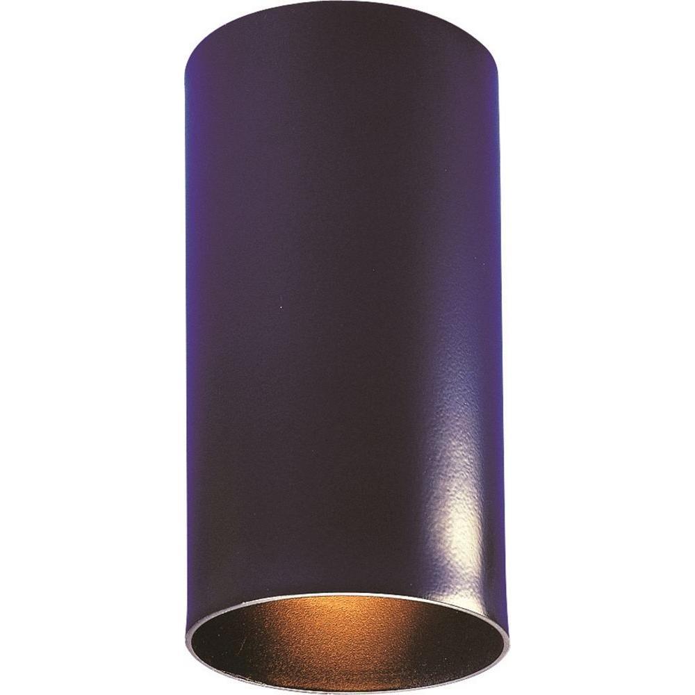 1-Light Black Flushmount