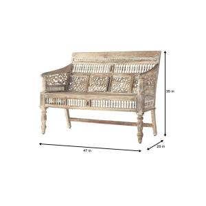 Astounding Home Decorators Collection Maharaja Sandblasted White Bench Andrewgaddart Wooden Chair Designs For Living Room Andrewgaddartcom