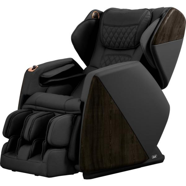 TITAN Pro Series Soho Black Faux Leather Reclining Massage Chair with Bluetooth Speakers and 4D Massage