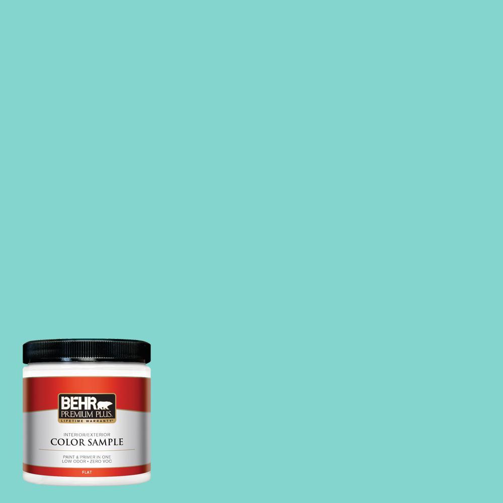 BEHR Premium Plus 8-oz. Home Decorators Collection Island Oasis Flat Interior/Exterior Paint Sample