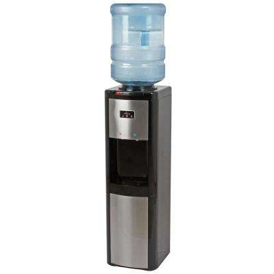Top Load Hot, Cold and Room Temperature Water Cooler in Black and Stainless
