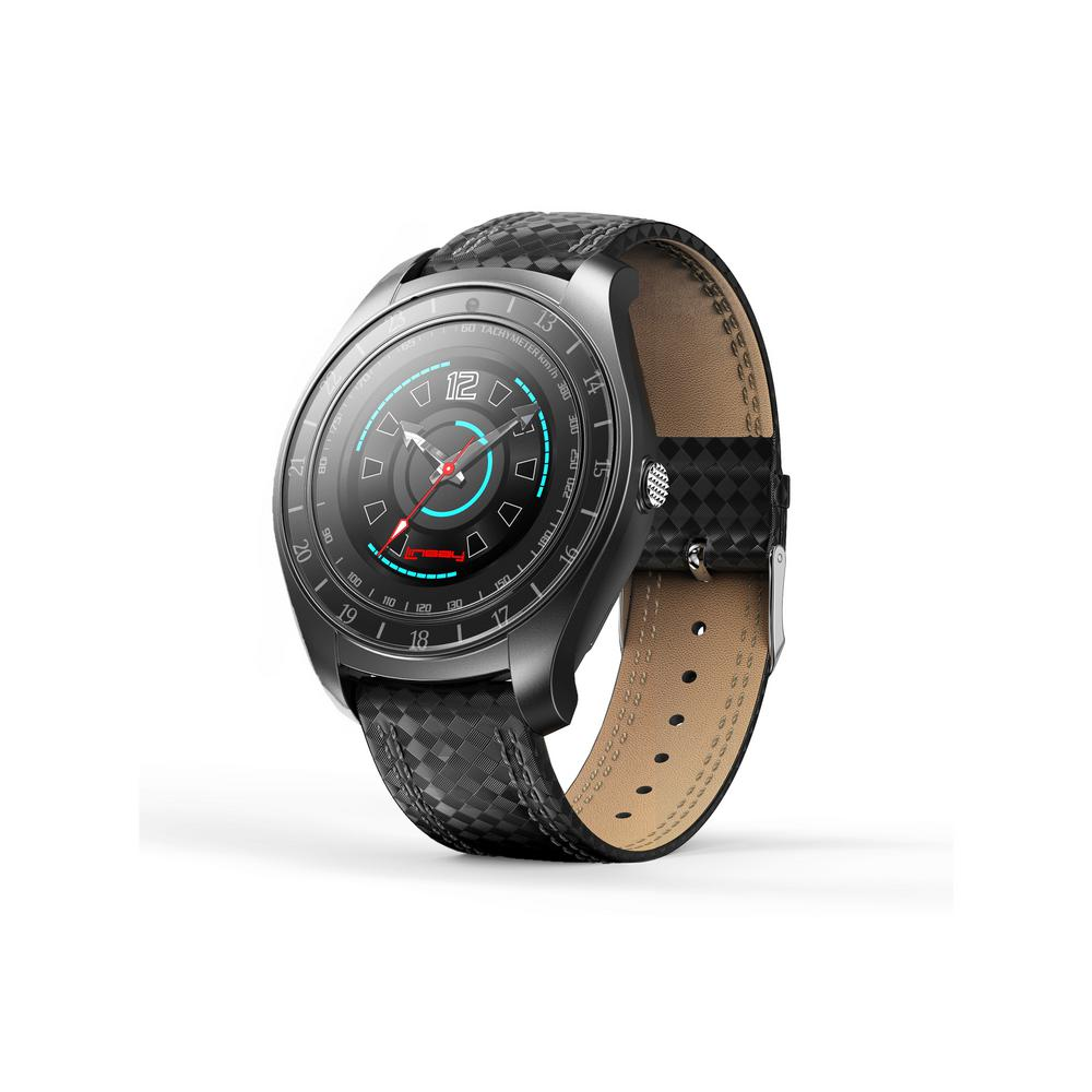 LINSAY EX-7 Heavy Duty Smart Watch Black with Camera Google Assistant