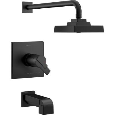 Ara TempAssure 17T Series 1-Handle Tub and Shower Faucet Trim Kit Only in Matte Black (Valve Not Included)