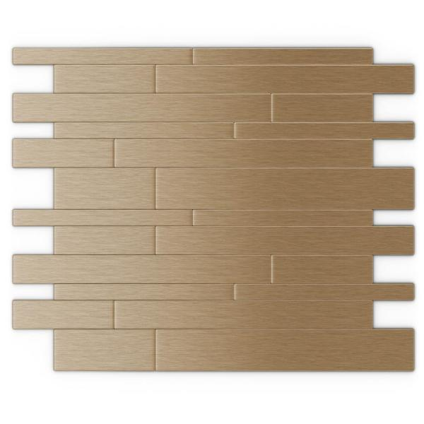 Inoxia Speedtiles Murano Lc Light Copper 12 2 In X 9 72 In X 5 Mm Metal Peel And Stick Wall Mosaic Tile Id111 5 The Home Depot