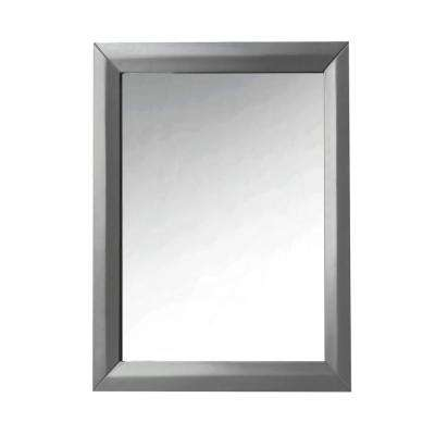 24 in. Framed Single Mirror in Sapphire Gray