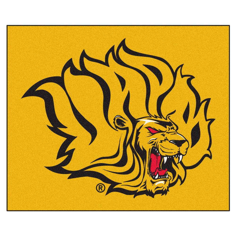 FANMATS NCAA University of Arkansas at Pine Bluff Gold 5 ft. x 6 ft. Area Rug
