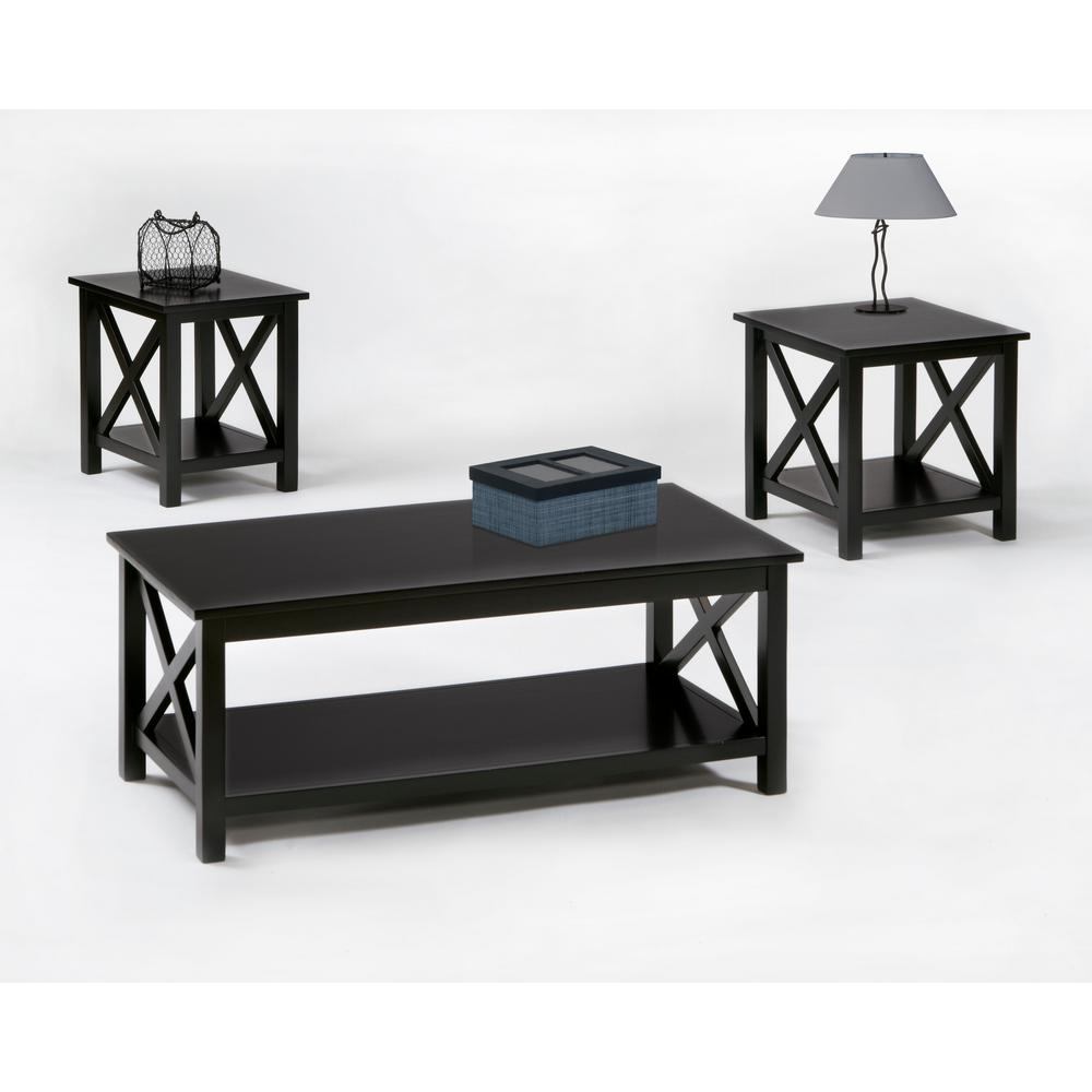 Lift Top Coffee Table Black.Seascape I Textured Black Lift Top Cocktail Table End Table Chairside Table 3 Pack