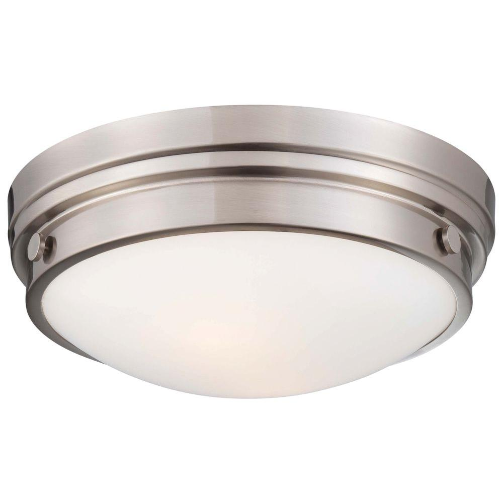 Minka Lavery 2-Light Brushed Nickel Flushmount
