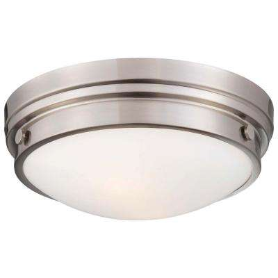 2-Light Brushed Nickel Flushmount