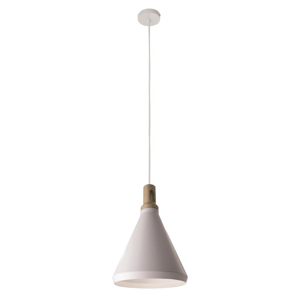 BAZZ Loft 1 Light White Pendant Fixture With Shade
