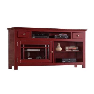 Emerson Hills 64 in. Red Entertainment Console